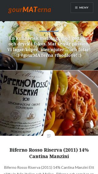 Mobile preview of gourmaterna.se