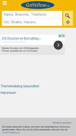 Mobile preview of goyellow.de