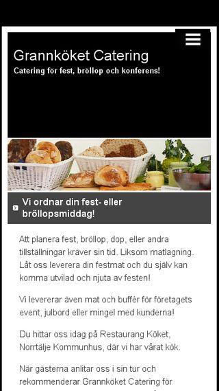 Mobile preview of grannkoketcatering.n.nu