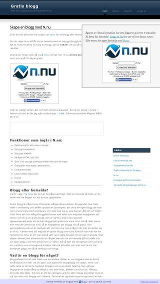 Mobile preview of gratisblogg.info