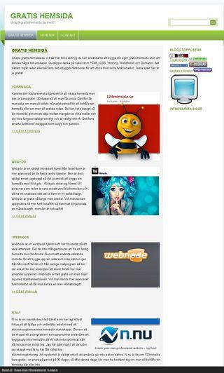 Mobile preview of gratishemsida.biz