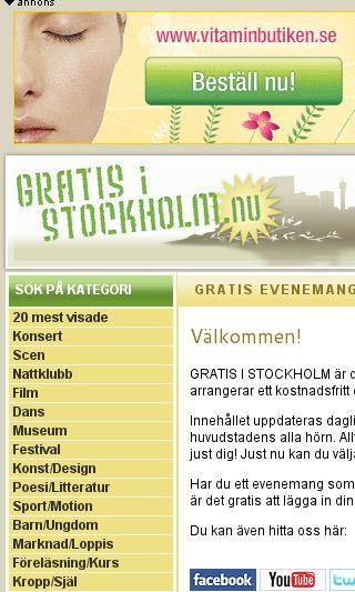 Mobile preview of gratisistockholm.nu