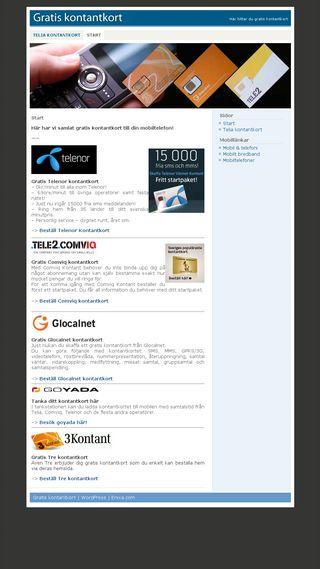 Mobile preview of gratiskontantkort.nu
