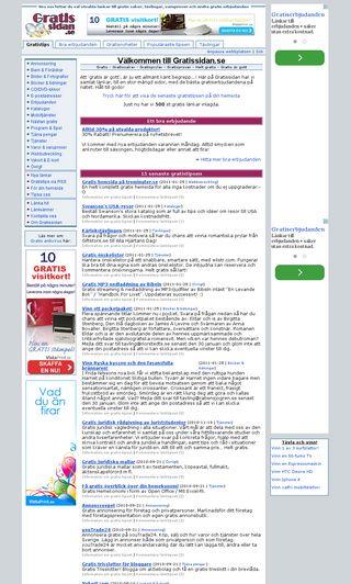Mobile preview of gratissidan.se