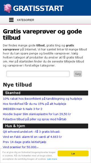 Mobile preview of gratisstart.dk