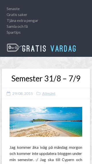 Mobile preview of gratisvardag.se