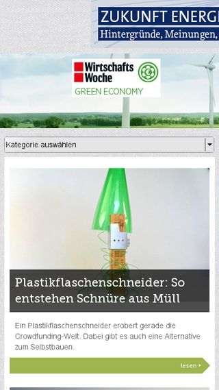 Mobile preview of green.wiwo.de