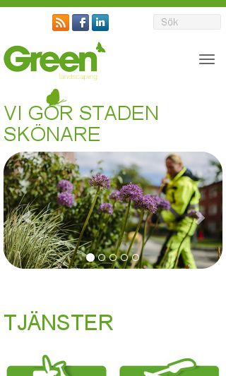 Mobile preview of greenlandscaping.se