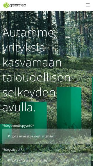 Mobile preview of greenstep.fi