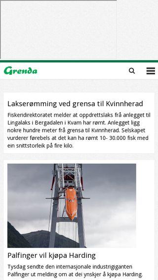 Mobile preview of grenda.no