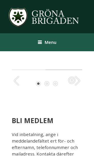 Mobile preview of gronabrigaden.se