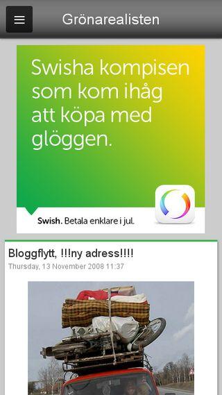 Mobile preview of gronarealisten.blogg.se