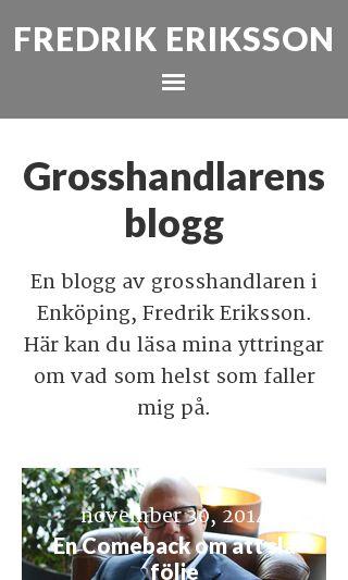 Mobile preview of grosshandlaren.nu