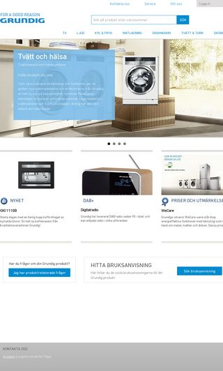 Mobile preview of grundig.se