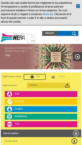 Mobile preview of gruppohera.it