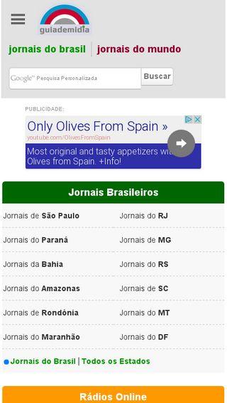 Mobile preview of guiademidia.com.br