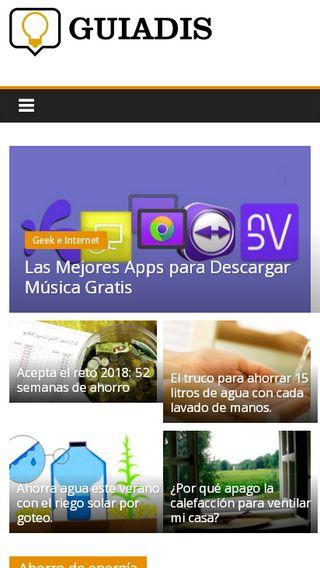 Mobile preview of guiadis.es