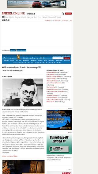 Mobile preview of gutenberg.spiegel.de