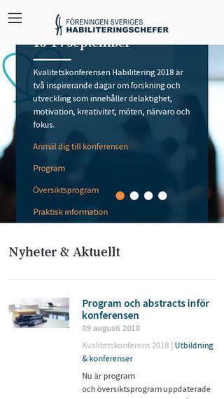 Mobile preview of habiliteringisverige.se