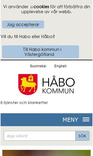 Mobile preview of habo.se