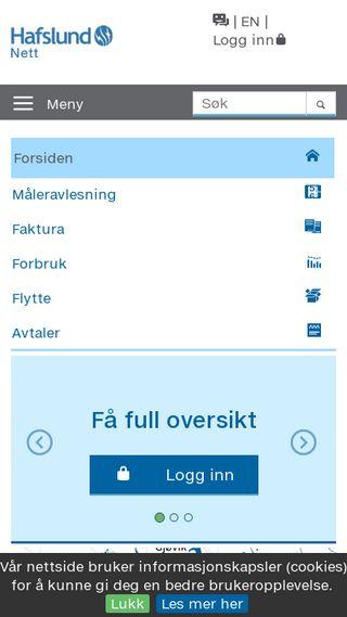Mobile preview of hafslundnett.no