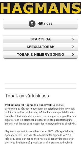 Mobile preview of hagmanstobaksundsvall.se