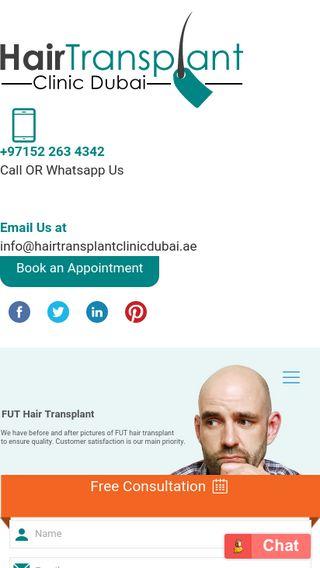 Mobile preview of hairtransplantclinicdubai.ae
