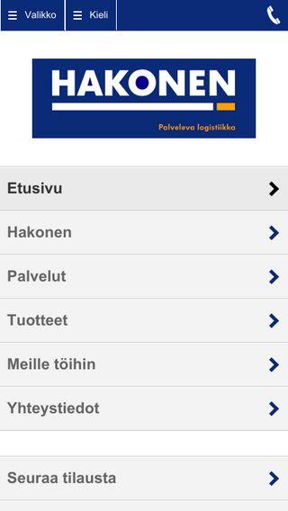Mobile preview of hakonen.fi