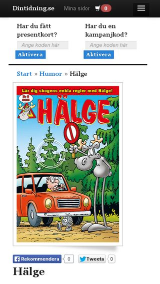 Mobile preview of halge.se