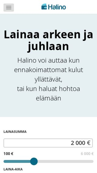 Mobile preview of halino.fi