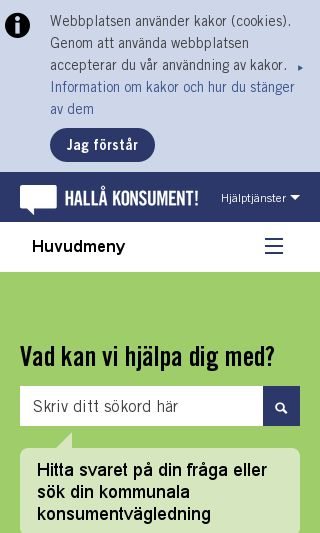 Mobile preview of hallakonsument.se