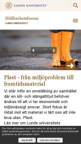 Mobile preview of hallbarhet.lu.se