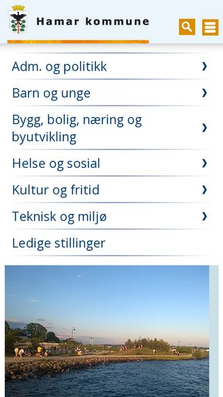 Mobile preview of hamar.kommune.no