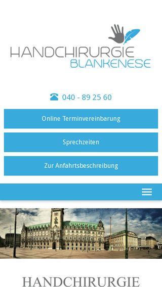 Mobile preview of handchirurgie-blankenese.de