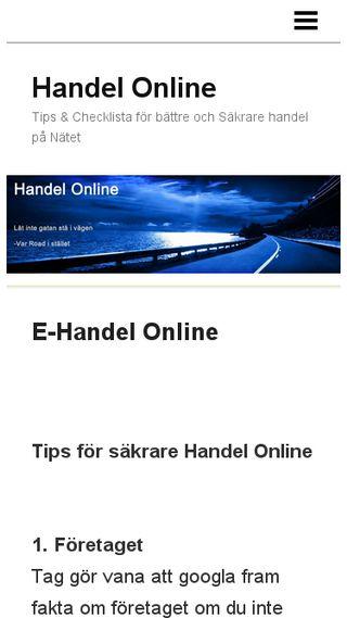 Mobile preview of handelonline.n.nu
