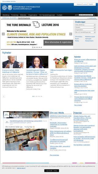 Mobile preview of handels.gu.se