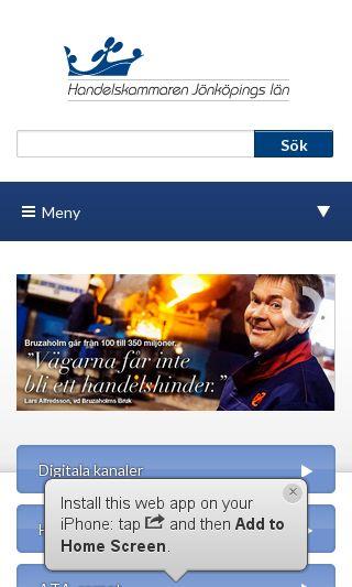 Mobile preview of handelskammarenjonkoping.se