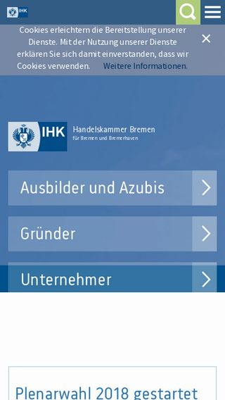 Mobile preview of handelskammer-bremen.de