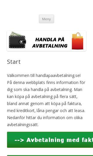 Mobile preview of handlapaavbetalning.se