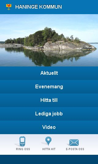 Mobile preview of haninge.se