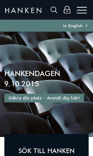 Mobile preview of hanken.fi