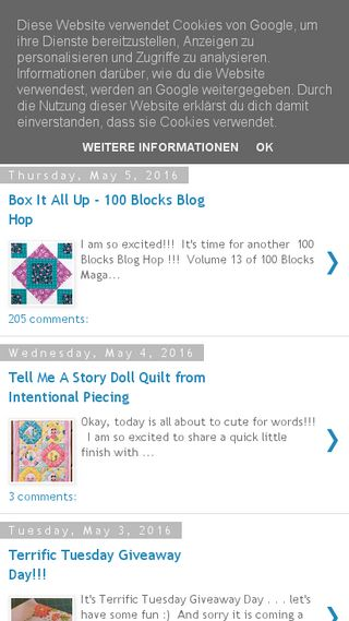 Mobile preview of happyquiltingmelissa.com