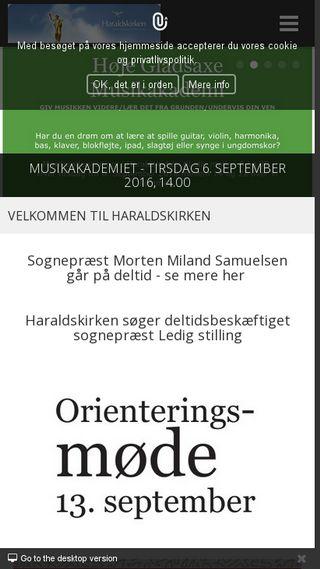 Mobile preview of haraldskirken.dk