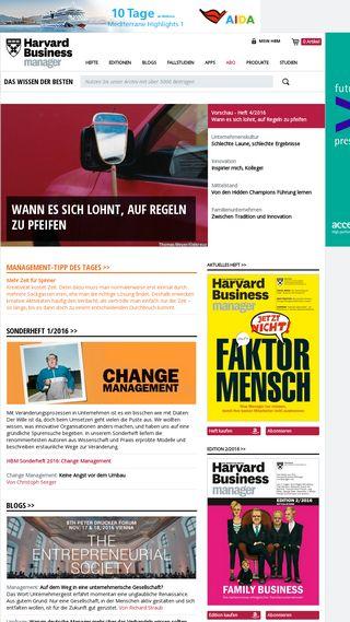 Mobile preview of harvardbusinessmanager.de
