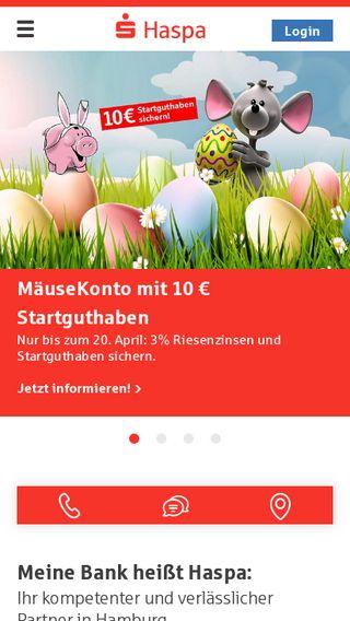 Mobile preview of haspa.de