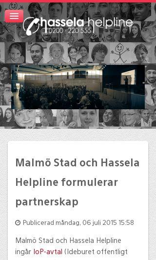 Mobile preview of hasselahelpline.se
