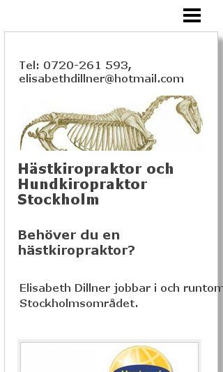 Mobile preview of hastochhundkiropraktor.se