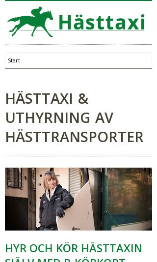 Mobile preview of hasttaxi.se