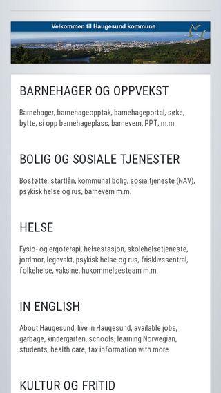 Mobile preview of haugesund.kommune.no