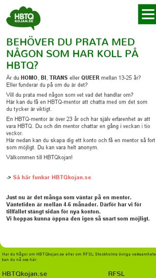 Mobile preview of hbtqkojan.se